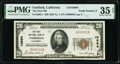 National Bank Notes:California, Serial Number 2 Fairfield, CA - $20 1929 Ty. 1 The First National Bank Ch. # 10984 PMG Choice Very Fine 35 EPQ.. ...