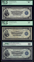 $5 1918 Federal Reserve Bank Notes New York and Cleveland. New York Fr. 782 PCGS Extremely Fine 40; Cleveland Fr. 78...
