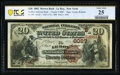 National Bank Notes:New York, Le Roy, NY - $20 1882 Brown Back Fr. 504 The Le Roy National Bank Ch. # (E)6087 PCGS Banknote Very Fine 25.. ...