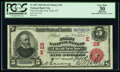 National Bank Notes:New York, New York, NY - $5 1902 Red Seal Fr. 587 The First National Bank Ch. # (E)29 PCGS Apparent Very Fine 30.. ...