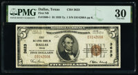 Dallas, TX - $5 1929 Ty. 1 First National Bank Ch. # 3623 PMG Very Fine 30