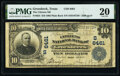 Groesbeeck, TX - $10 1902 Plain Back Fr. 624 The Citizens National Bank Ch. # (S)6461 PMG Very Fine 20