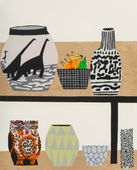Jonas Wood (b. 1977) Shelf Still Life, 2018 Lithograph and silkscreen in colors on wove paper 32 x 26 inches (81.3 x