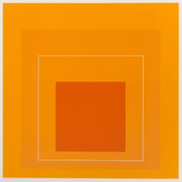 Josef Albers (1888-1976) White Line Square VI, from White Line Squares, 1966 Lithograph in colors on Arches paper