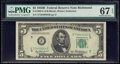 Small Size:Federal Reserve Notes, Fr. 1963-E $5 1950B Federal Reserve Note. PMG Superb Gem Unc 67 EPQ.. ...