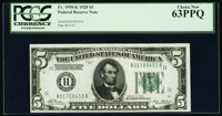 Fr. 1950-K $5 1928 Federal Reserve Note. PCGS Choice New 63PPQ