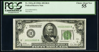 Fr. 2101-H $50 1928A Federal Reserve Note. PCGS Choice About New 55