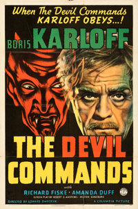 """The Devil Commands (Columbia, 1941). Folded, Very Fine-. One Sheet (27"""" X 41"""")"""