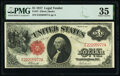 Large Size:Legal Tender Notes, Fr. 37 $1 1917 Legal Tender PMG Choice Very Fine 35.. ...