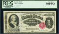 Large Size:Silver Certificates, Fr. 222 $1 1891 Silver Certificate PCGS Very Fine 30PPQ.. ...