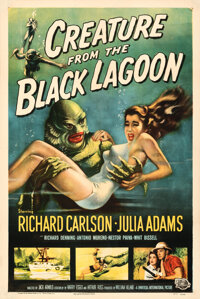 """Creature from the Black Lagoon (Universal International, 1954). Very Fine on Linen. One Sheet (27"""" X 41"""") Albe..."""