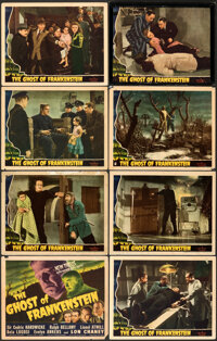 """The Ghost of Frankenstein (Universal, 1942). Very Good. Lobby Card Set of 8 (11"""" X 14"""").... (Total: 8 Items)"""