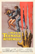 """Movie Posters:Horror, I Was a Teenage Werewolf & Other Lot (American International, 1957). Folded, Fine/Very Fine. One Sheets (3) (27"""" X 41..."""