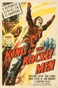 """Movie Posters:Serial, King of the Rocket Men (Republic, 1949). Folded, Very Fine. One Sheet (27"""" X 41"""")...."""