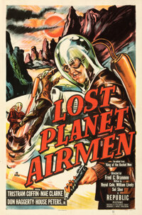 """Lost Planet Airmen & Other Lot (Republic, 1951). Folded, Fine/Very Fine. One Sheets (2) (27"""" X 41""""), Inser..."""