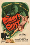 Movie Posters:Horror, The Mummy's Ghost (Realart, R-1951). Folded, Fine+.