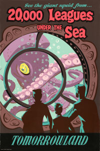 20,000 Leagues Under the Sea (Walt Disney, 1955). Rolled, Very Fine. Disneyland Park Attraction Full Bleed Poster (36&qu...