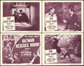 """Movie Posters:Serial, The New Adventures of Batman and Robin (Columbia, 1949). Fine/Very Fine. Lobby Card Set of 4 (7 sets) (11"""" X 14"""")......."""