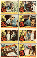 """Movie Posters:Serial, King of the Rocket Men (Republic, 1949, R-1956). Fine/Very Fine. Lobby Card Set of 8 (2) (11"""" X 14""""), Lobby Card Sets..."""