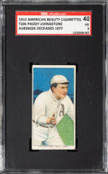 Autographs:Sports Cards, Signed 1909-11 T206 American Beauty 350 Paddy Livingston SGC 40 VG 3, SGC Auto Authentic....