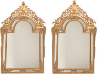 A Pair of French Neoclassical-Style Carved Giltwood Mirrors 93 x 63 x 3 inches (236.2 x 160.0 x 7.6 cm) (each)