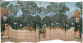 Furniture, A Continental Painted Ten-Panel Screen 93 x 22 ...