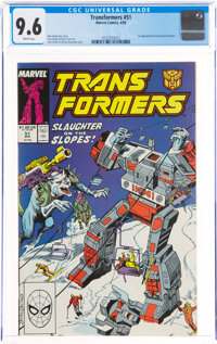 Transformers #51 (Marvel, 1989) CGC NM+ 9.6 White pages