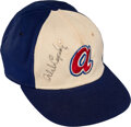Baseball Collectibles:Hats, Early 1970's Orlando Cepeda Game Worn & Twice Signed Atlan...