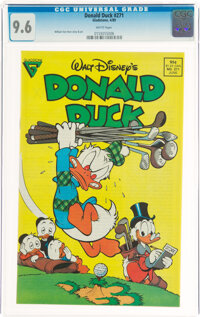 Donald Duck #271 (Gladstone, 1989) CGC NM+ 9.6 White pages