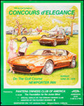 Movie Posters:Original Art, Concours D'Elegance Poster (Center Line Racing Wheels, 1978). Rolled, Very Fine-. Pantera Owners Club of American Poster (22...