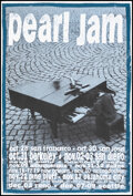 """Movie Posters:Musical, Pearl Jam (Ames Bros./Pearl Jam, 1993). Rolled, Very Fine+. West Coast Fall Tour Poster (20"""" X 29.5""""). Musical.. ..."""