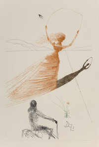 Salvador Dali (1904-1989) Alice in Wonderland, 1969 12 photolithographs and one engraving in colors on Mandeure paper