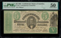 Confederate Notes:1861 Issues, CT33/250B Counterfeit $5 1861 PMG About Uncirculated 50.. ...