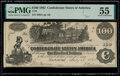 T39 $100 1862 PF-13 Cr. 294 PMG About Uncirculated 55