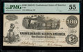 Confederate Notes:1862 Issues, T40 $100 1862 PF-1 Cr. 298 PMG About Uncirculated 55.