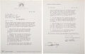 Movie/TV Memorabilia:Autographs and Signed Items, John Wayne Signed Contract for The Shootist (Paramount, 1976). ...