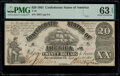 Confederate Notes:1861 Issues, T18 $20 1861 PF-7 Cr. 107 PMG Choice Uncirculated 63 EPQ.