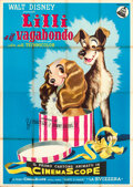 Movie Posters:Animation, Lady and the Tramp (Dear Film, 1955). Folded, Fine/Very Fi...