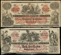 CT19/137C-1 Counterfeit $20 1861 Very Good-Fine; CT22/152E Counterfeit $10 1861 Fine.  ... (Total: 2 notes)