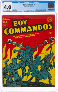 Boy Commandos #1 (DC, 1942) CGC VG 4.0 Off-white pages