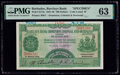 Barbados Barclays Bank 100 Dollars 1.3.1940 Pick S113s Specimen PMG Choice Uncirculated 63