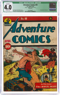 Adventure Comics #49 Incomplete (DC, 1940) CGC Qualified VG 4.0 Off-white pages