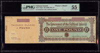 Falkland Islands Government of the Falkland Islands 1 Pound ND (1899-1915) Pick A3pm Printer's Model PMG About Uncircula...