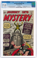 Silver Age (1956-1969):Superhero, Journey Into Mystery #85 (Marvel, 1962) CGC FN/VF 7.0 White pages....