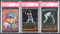 Baseball Cards:Lots, 1994 Classic & Ted Williams Co. Derek Jeter and Alex Rodriguez PSA Graded Trio (3).... (Total: 3 items)