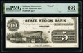 Obsoletes By State:Indiana, Jamestown, IN- State Stock Bank $5 18__ as G6 Wolka 0965-08 PMG Gem Uncirculated 66 EPQ.. ...