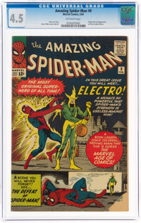 The Amazing Spider-Man #9 (Marvel, 1964) CGC VG+ 4.5 Off-white pages