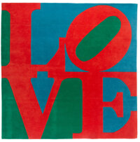 Robert Indiana (1928-2018) Classic Love Chrome-dyed wool 96 x 96 inches (243.8 x 243.8 cm) Ed. 79/175 Signed and nu