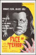"""Movie Posters:Science Fiction, Face of Terror & Other Lot (Futuramic, 1964). Folded, Very Fine. One Sheets (2) (27"""" X 41"""" & 26.75"""" X 40.75""""). Scienc..."""