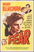 """Movie Posters:Foreign, Fear (Astor, 1956). Folded, Very Fine-. One Sheet (27"""" X 41""""). Foreign.. ..."""